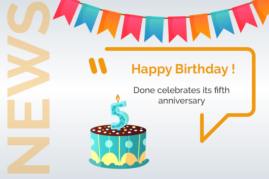 Done celebrates its fifth anniversary