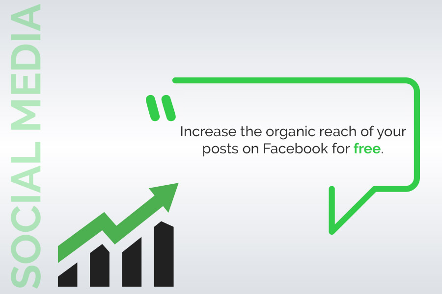 Increase for free the organic reach of your publications on Facebook.