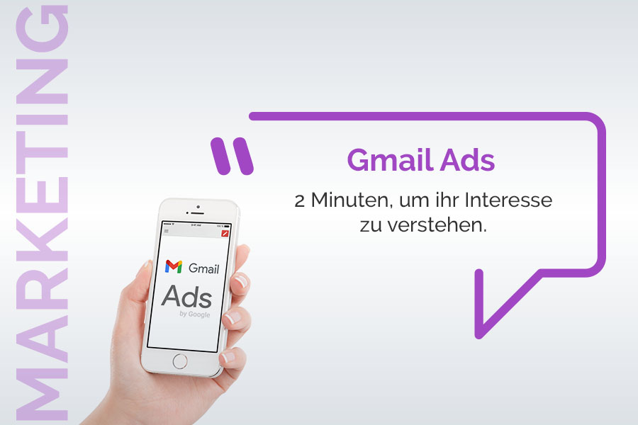 Gmail ads: 2 Minuten, um ihr Potenzial zu erkennen