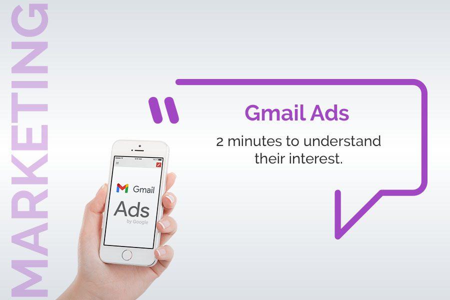 Gmail ads 2 minutes to understand their interest